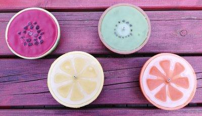 Tropische kaars – 'Kiwi', 'Citroen', 'Sinaasappel' of 'Meloen'