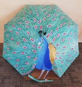 Paraplu - 'Zo trots als een pauw'