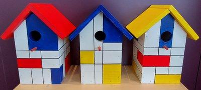 Vogelhuisje - 'Mondriaan'